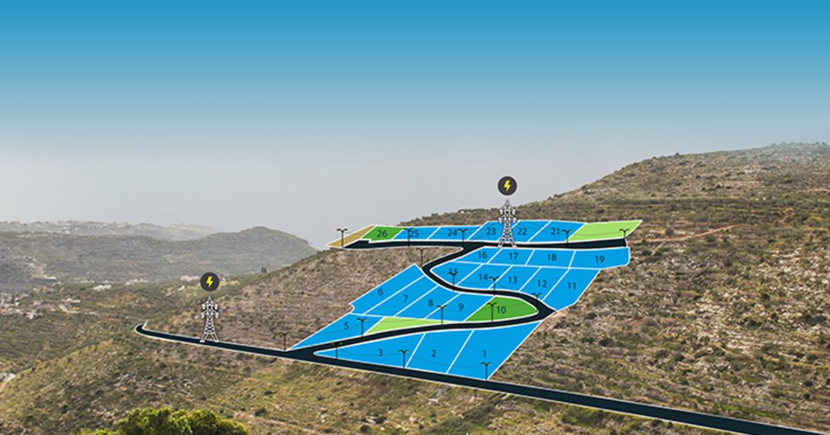 مشروع طابو يمد خطوط الكهرباء ذات الضغط العالي إلى قراوة بني زيد بمحافظة رام الله