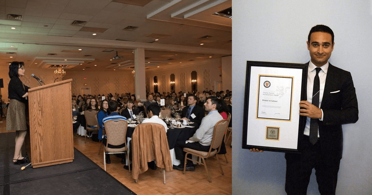 Canada's University of Waterloo Honors Khaled Al Sabawi with prestigious Young Alumni Achievement Medal