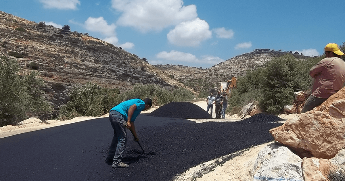 TABO Project Completes Paving Internal Roads in one of its Farkha Master Plans in Salfeet