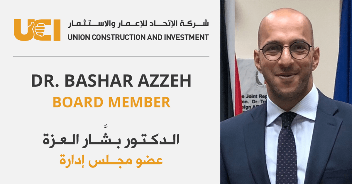 UCI Announces Dr. Bashar Azzeh as Board of Directors Member